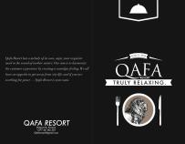 Qafa Resort - Menu - front and back
